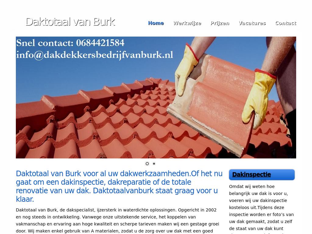 Dakdekkersbedrijfvanburk.nl