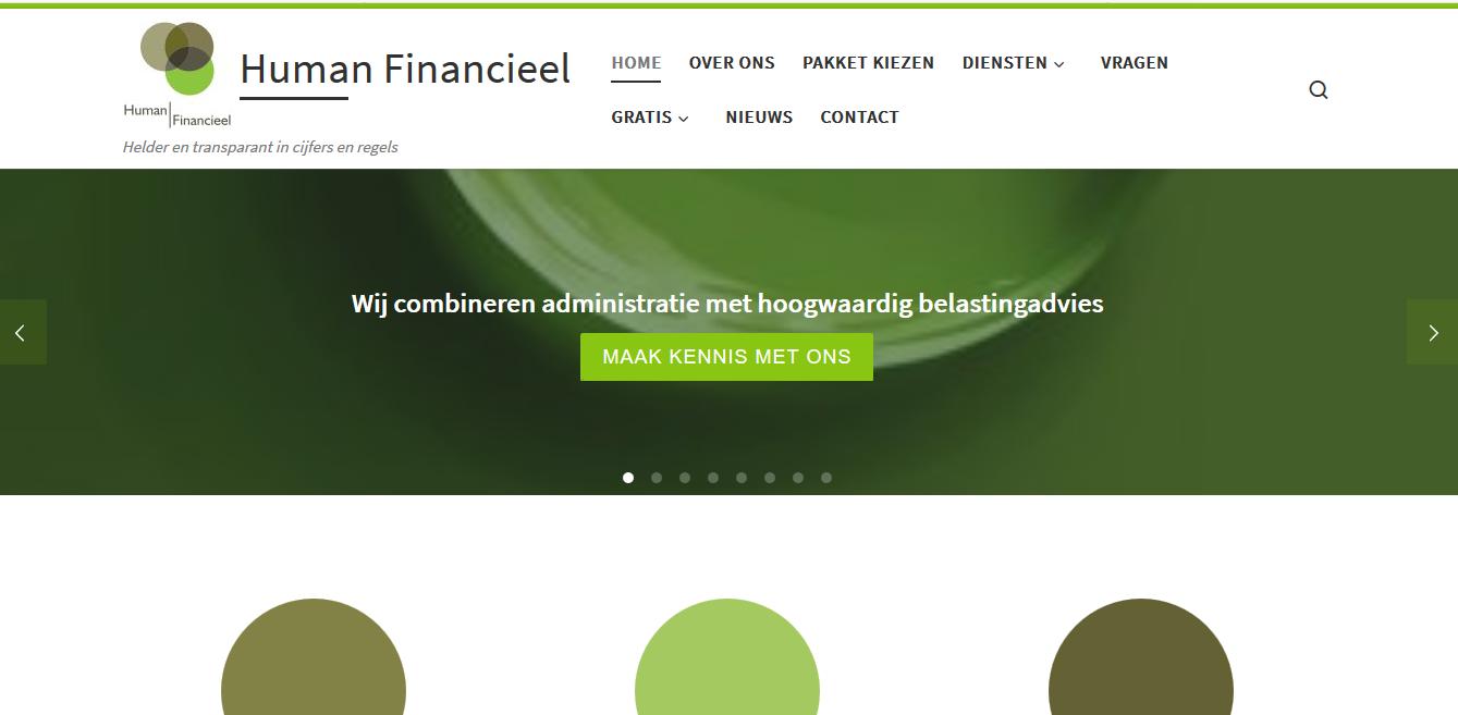 Webdesign Human Financieel