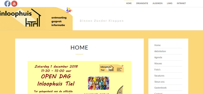 Webdesign Inloophuis Tiel